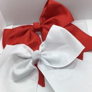 Some Sweet Girl Needs a Huge Bow! Red or White,NWT
